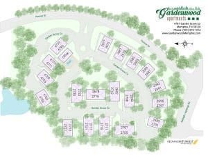 Gardenwood Apartments site map